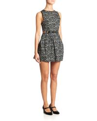 Marc Jacobs Embellished Cutout Floral Dress - Lyst