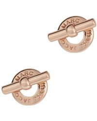 Marc By Marc Jacobs - Rose Gold Tone Toggle Stud Earrings - Lyst