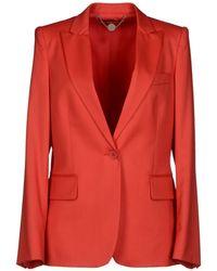 Stella McCartney Blazer red - Lyst