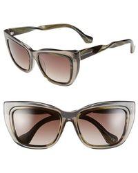 Balenciaga 55Mm Cat Eye Sunglasses gray - Lyst