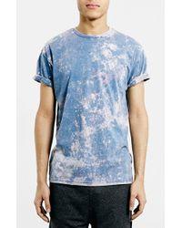 Topman Acid Wash Roller T-Shirt - Lyst