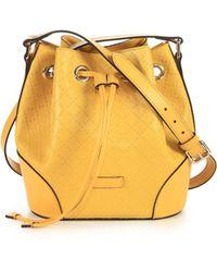 Gucci Bright Diamante Leather Bucket Bag - Lyst