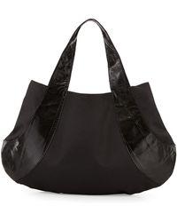 Beirn - Caroline Snakeskin Contrast Shoulder Bag - Lyst