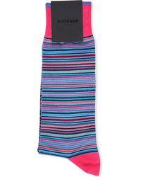 Duchamp Platinum Stripe Socks - Lyst