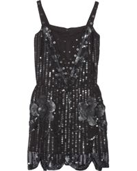 Anna Sui Sequin-Embellished Tulle Dress - Lyst