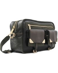 Vanessa Bruno Betty Leather Crackled Reporter Bag - Lyst