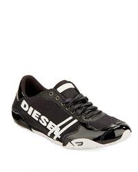 Diesel Black Solar Sneakers - Lyst