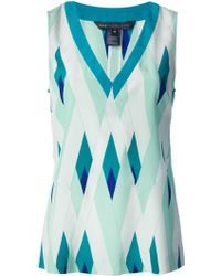 Marc By Marc Jacobs Printed Vest Top - Lyst