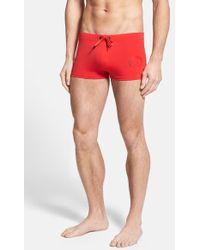 Diesel Aloha Swim Shorts red - Lyst