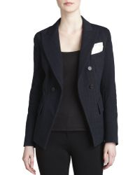 Donna Karan New York Fitted Cutaway Double-breasted Jacket - Lyst
