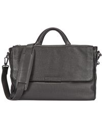 Marc By Marc Jacobs - Robbie G Black Leather Messenger Bag - Lyst