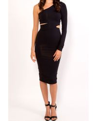 Donna Mizani Mid Length One Shoulder Cut Out - Lyst