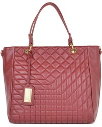 Badgley Mischka Clarissa Quilted Leather Tote - Lyst