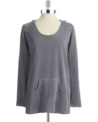 Calvin Klein Performance Gray Hooded Top - Lyst