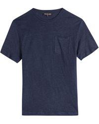 Michael Kors Linen T-Shirt - Lyst