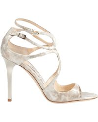 Jimmy Choo Lang Sandal Marble Patent - Lyst