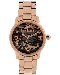 Steve Madden | Womens Rose Goldtone Bracelet Watch 40mm 53 | Lyst