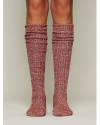 Free People Hand Knit Marl Thigh Hi - Lyst