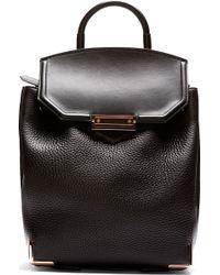 Alexander Wang Black Pebbled Leather Prisma Skeletal Backpack - Lyst