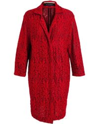 Roland Mouret Embroidered Textured Cotton Coat - Lyst
