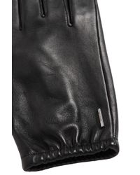 BOSS - Leather Gloves With Silk Lining: 'gaola' - Lyst