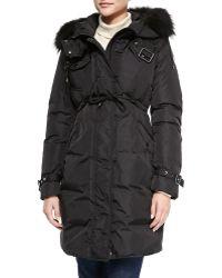 Moncler Phalan Fur-trim Puffer Coat - Lyst