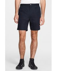 A.P.C. Pleated Cotton & Linen Shorts - Lyst