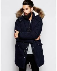 Asos Fishtail Parka with Thinsulate - Lyst