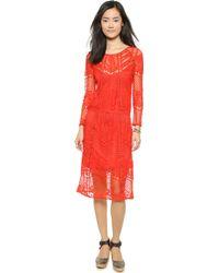 Free People Luna Lace Dress - Ivory - Lyst