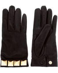 Valentino Va Va Voom Studembellished Leather Gloves - Lyst