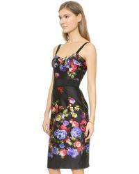 Milly Bustier Strap Dress - Multi - Lyst