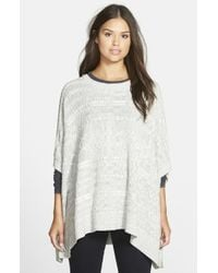 Two By Vince Camuto Cable Knit Poncho - Lyst