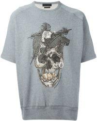 Alexander McQueen Feather Skull Sweatshirt - Lyst
