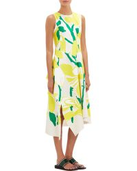 Marni Floral Muslin Asymmetric Dress - Lyst
