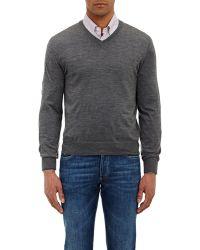 Brunello Cucinelli Tipped V-Neck Sweater - Lyst