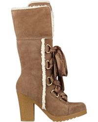 Nine West Magichat Suede Boots - Lyst