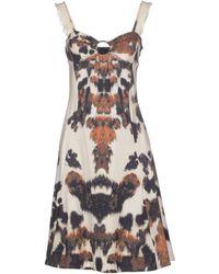 Just Cavalli Combo Leopard Dress brown - Lyst