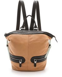 orYANY - Leather Backpack Sand Multi - Lyst