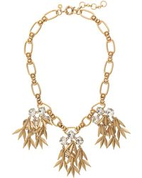 J.Crew - Jewelled Quill Statement Necklace - Lyst