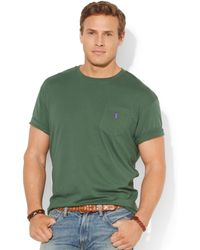 Ralph Lauren Polo Big and Tall Classic-fit Jersey Pocket Crewneck - Lyst