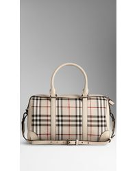 Burberry The Medium Alchester In Horseferry Check - Lyst