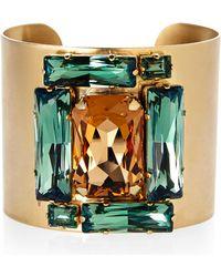 Janis By Janis Savitt | Gold-Tone Crystal Cuff Bracelet | Lyst