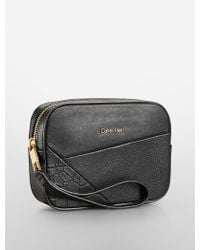 Calvin Klein Clea Three Leather Patchwork Cosmetic Case - Lyst