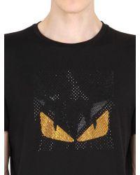 Fendi | Monster Rhinestone Cotton T-shirt | Lyst