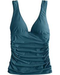 J.Crew Ruched Tankini Top teal - Lyst