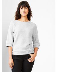 Gap Raglan Elbow-sleeve Sweatshirt - Lyst