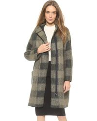 Rag & Bone Cammie Sweater Coat Dusty Olive - Lyst