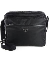 red leather prada handbag - prada-black-nylon-messenger-bag-product-1-17105942-2-555765868-normal.jpeg
