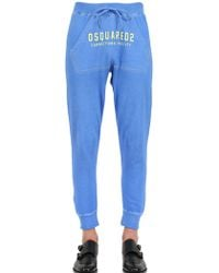 DSquared2 Printed Cotton Fleece Jogging Trousers - Lyst