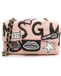 MSGM - Quilted Shoulder Bag  Pink - Lyst